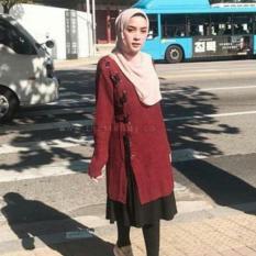 ByAzam Baju Muslim - Dian sweater Tunic - Rajut Tebal 7 Get