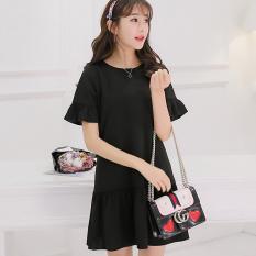 Caidaifei Korean-style spring and summer New style Women's short sleeved Shishang knit dress (