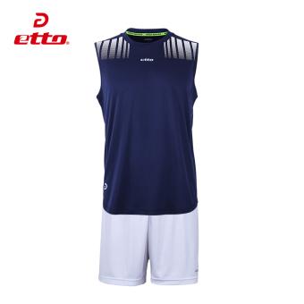 Jual Cara etto berjalan tanpa lengan bernapas celana pendek kebugaran pakaian t-shirt (Jas (di bawah biru tua putih)) Terpercaya