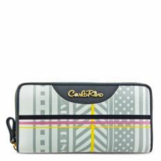 Carlo Rino 0303271-503-28 Grey Zip Wallet (Grey)