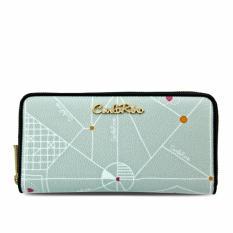 Carlo Rino 0303701-503-38 Signature Grey Zipper Wallet (Grey)