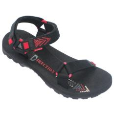 CARVIL - MAN SANDAL GUNUNG DIRECTION-GM BLACK- RED