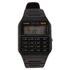 Casio CA-53W-1ZDR Calculator Data Bank Jam Tangan - Hitam