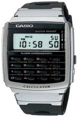 Casio Calculator Jam Tangan Pria - Hitam - Strap Karet - CA-56-1D