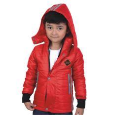 Catenzo Junior Crc 002 Jaket Casual Anak Laki Parasit Bagus Merah