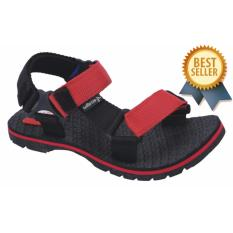 Catenzo Junior Sandal Gunung Anak Laki-Laki Hitam Merah CJJ 002