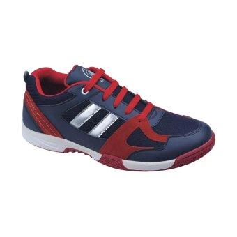 Catenzo Men Running Shoes - Sepatu Lari Pria - Merah-Biru