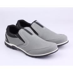 Catenzo Sepatu Sneakers Casual Semi Formal Pria - Slip On - 106 SD 008 - Abu-abu