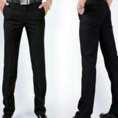 Celana Formal pria slimfit twis hitam / Celana kerja pria twis slimfit hitam / Celana bahan twis slimfit hitam 28/38