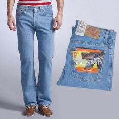 Celana Jeans Lvs Regular Fit Standard Pria - Biru Muda (BioBlitz)