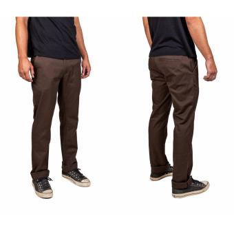 Celana Murah Chino Panjang Dark Brown