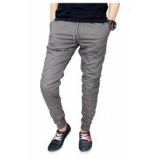 Celana Murah Pria Jogger Grey (Abu-Abu)