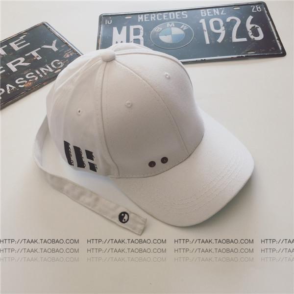 Chaonan Korea Fashion Style musim panas perempuan panjang surat topi  baseball topi (Gosip kecil putih 21cb24b326