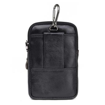 Cheersoul Dompet HP Dompet Android Dompet Pinggang kulit cantolan[Hitam] -