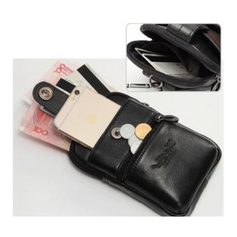 Cheersoul Dompet Pinggang Kulit Android handphone [coklat] - 2