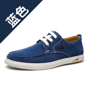 JUAL Cheng rambut bernapas tahan slip soft suede pasang sepatu kasual sepatu sepatu (Chengfa 1328-biru) TERMURAH