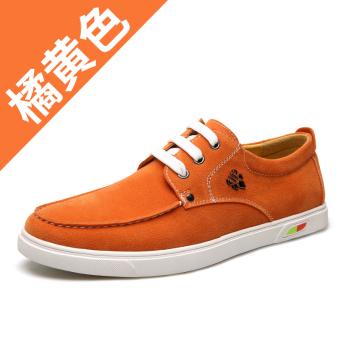 HARGA Cheng rambut bernapas tahan slip soft suede pasang sepatu kasual sepatu sepatu (Chengfa 1328-kuning) MURAH