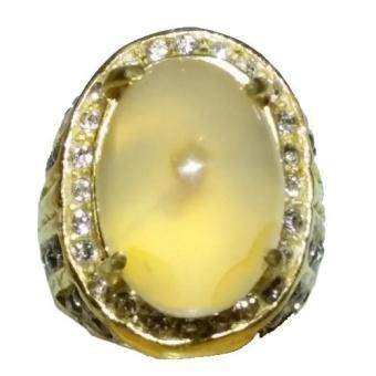 Cincin Batu Akik Braja Kuning