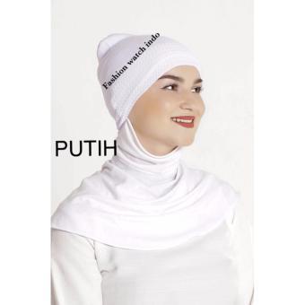 Harga Ciput Inner Rajut Anti Pusing - Isi 6pcs Hitam Putih Pink Navy Maroon Abu Murah