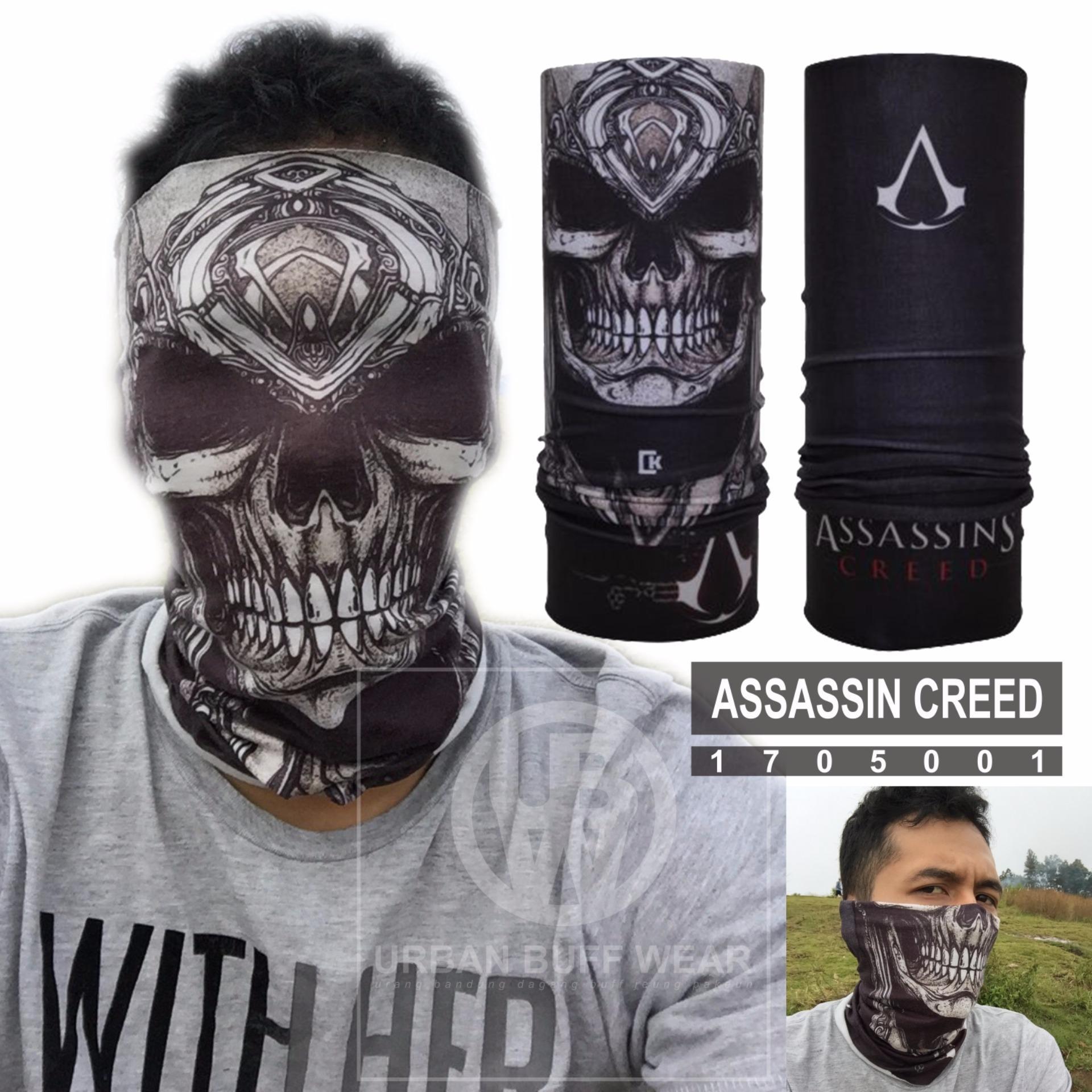 Ck Bandana 1702004 Buff Masker Multifungsi Motif Imperial Moustache Polar 1705001 Assassin Creedskull