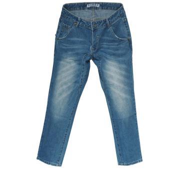 Ckey Celana Wanita Boyfriend Ripped Jeans 714 - Sobek Tidak TembusKulit
