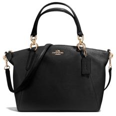Coach Kelsey Black Leather F36675 SMALL Authentic