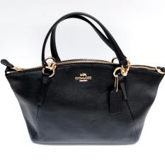 Coach Small Kelsey in Pebble Leather (Black)