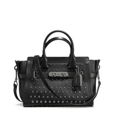 Coach Swagger Ombre 27 Rivets Black Authentic