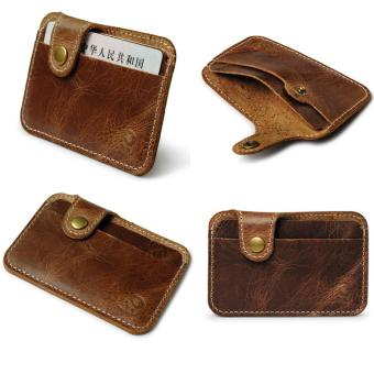 CocolMax Fashion Money Clip Slim Credit Card ID Holder Wallet Money Cash Holder Brown - intl