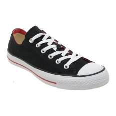 Converse Chuck Taylor Double Tongue Low Top Sepatu Sneakers - Black/Red