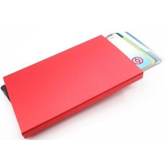 ... Dompet Pelindung Source · Credit Card Holder RFID Blocking Aluminum Business Card HolderPop up Card Case Red intl