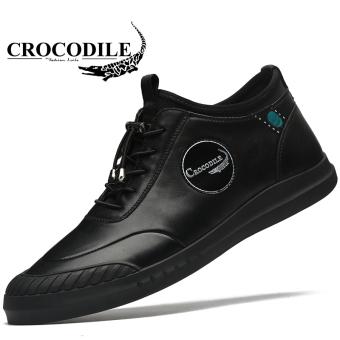 Gambar Crocodile Korea Fashion Style pria sepatu pria baru sepatu kasual  (Model laki laki + bf673a9605