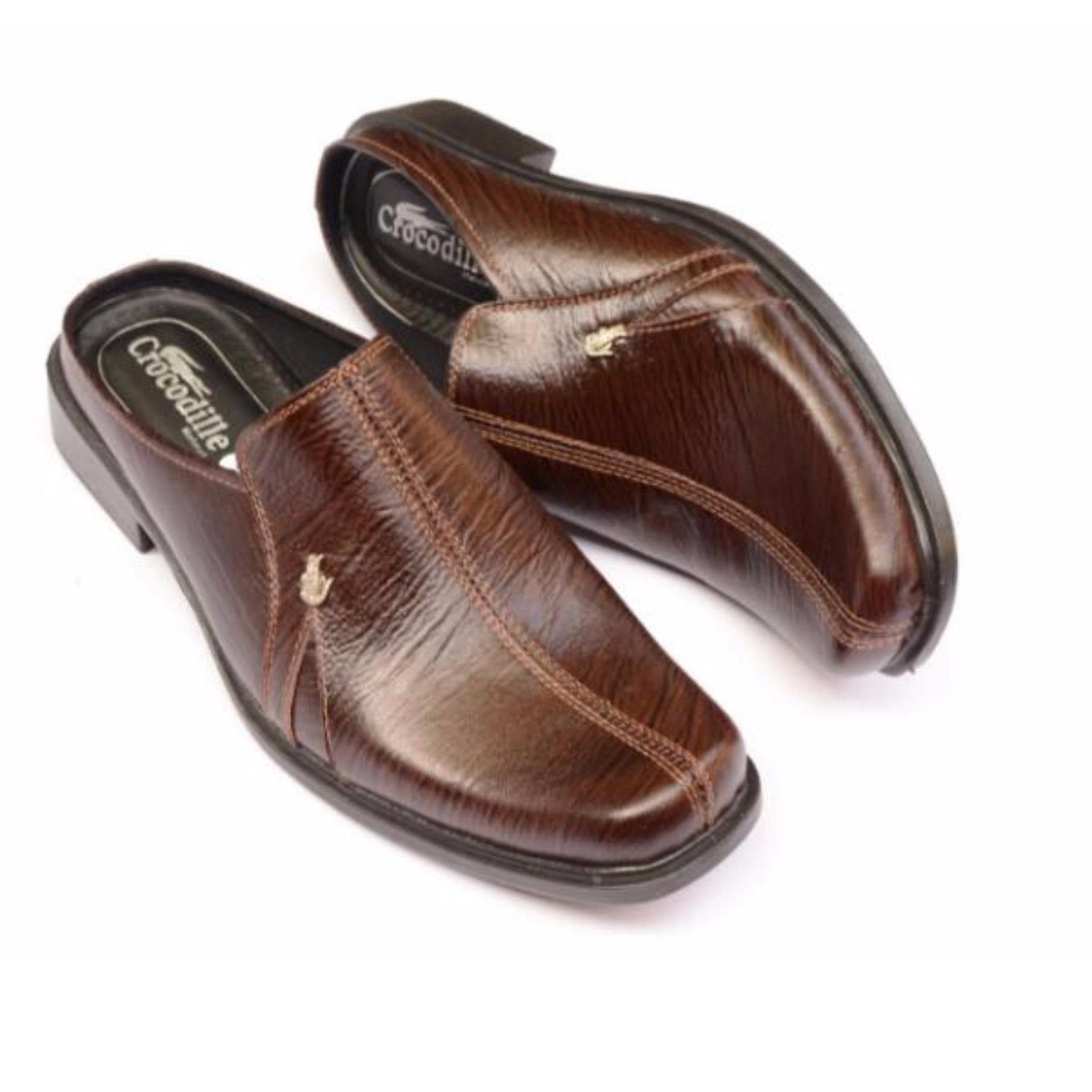 Crocodile Sepatu Sandal Selop Pria Sepatu Pria Sandal Pria - Kulit Sapi Asli .