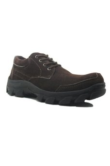 Cut Engineer Safety Shoes Low Boots Top - Cokelat