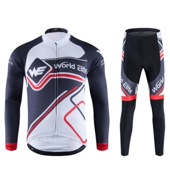 Cycling Jersey Pants Set Bike Clothing Long-Sleeve Jersey SuitWicking Clothes - intl