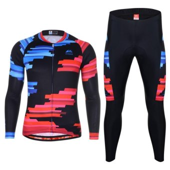 Cycling Jersey Sets Long Sleeve Quick-dry Bike Clothes - intl