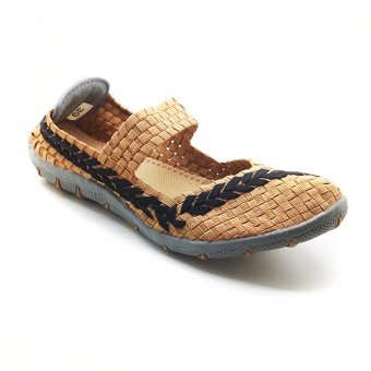Gambar Cyntia Sepatu Anyaman 551 Cream