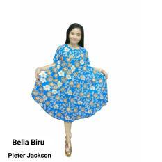 Daster  / Dress Midi  Payung  Bella (Pink, Hijau, Biru, Oranye, Avocado)