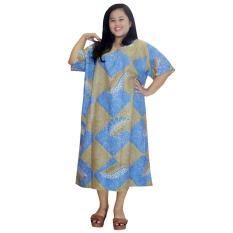 Daster Jumbo Lengan Pendek Batik, Baju Tidur Jumbo, Piyama Jumbo, Kancing, Daster Bumil - Busui (DPT003-60)