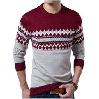 DEcTionS Sweater Rajut Pria Michael Maroon