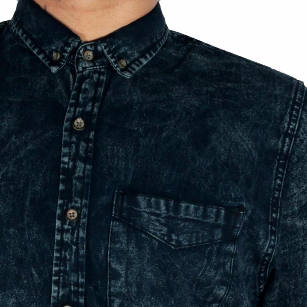 Dgm Fashion1 Kemeja Pria Jeans Hijau Lengan Pendek Kemeja Batik Songket  Kemeja . 5096730fb7
