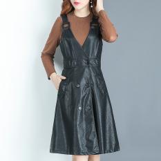 DI E QIAN Korea Fashion Style musim gugur baru perempuan lengan panjang kemeja bottoming (Hitam
