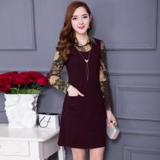 DI E QIAN Korea Fashion Style perempuan Slim adalah langkah tipis rok Autumn baru gaun (