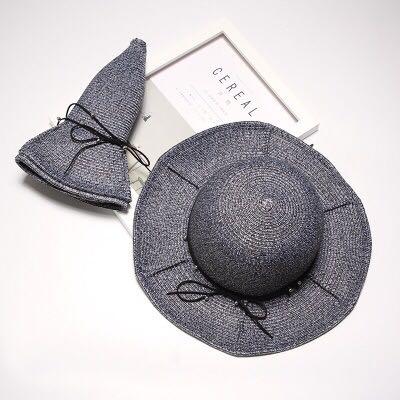 Kasual Matahari Topi Dilipat Matahari Topi Topi Putih Topi Penuh ... dbb2a8c370