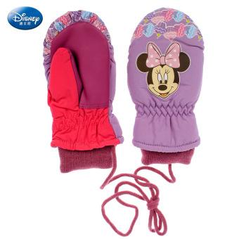 Harga Terendah Disney Anak Perempuan Ditambah Beludru Halter Sarung Tangan Ski Katun Sm70003 Ungu