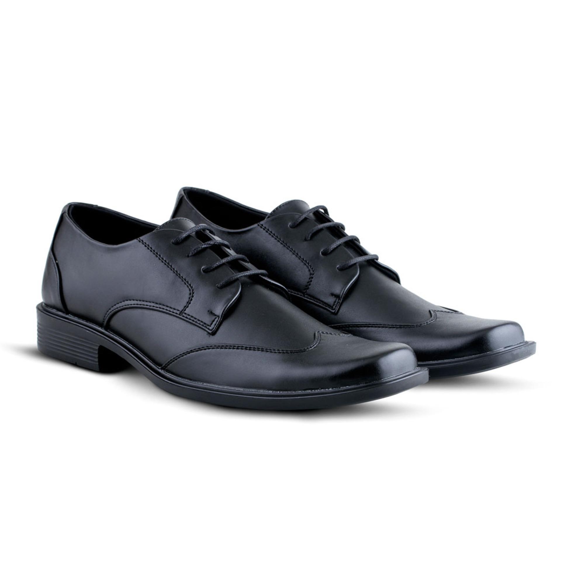 Harga Termurah Distro Bandung Vd 371 Sepatu Formal Pria Untuk Kerja Kasual Sneaker Kantor Kulitsintetis Hitam