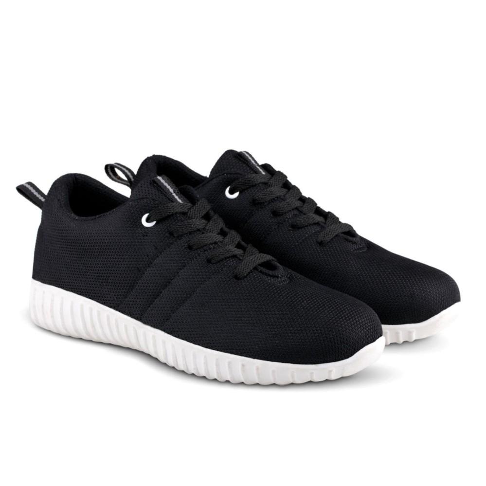 Distro Bandung VR 355 Sepatu Kets Sneakers dan Kasual Pria - Hitam