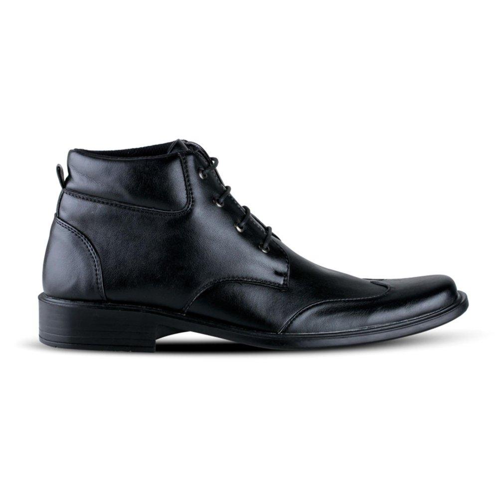 Distro Bandung VR 396 Sepatu Formal Pria Untuk Kerja Kantor KulitSintetis -  Hitam . a871ba058d