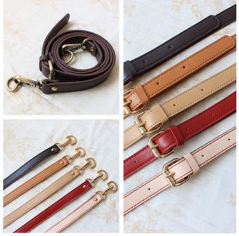 DIY Pippi Jinjing Tas Tenteng Kain Perca Suspender Tali Tas (Putih/perunggu aksesoris)