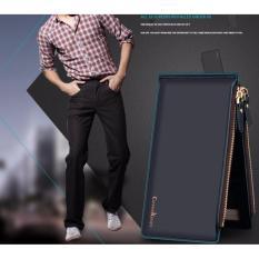 Dompet IMPOR Mens Fashion Curewe Kerien #2303 Card Holder Kartu Bisnis Wallet - BLACK BLUE